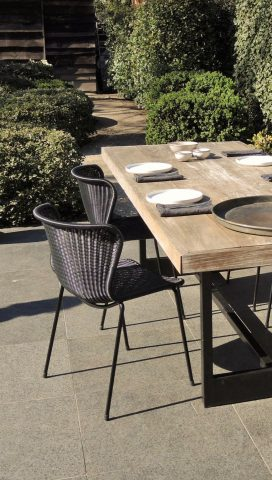 C603 black-black outdoor tafel